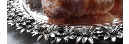 Vassoio in argento margherite